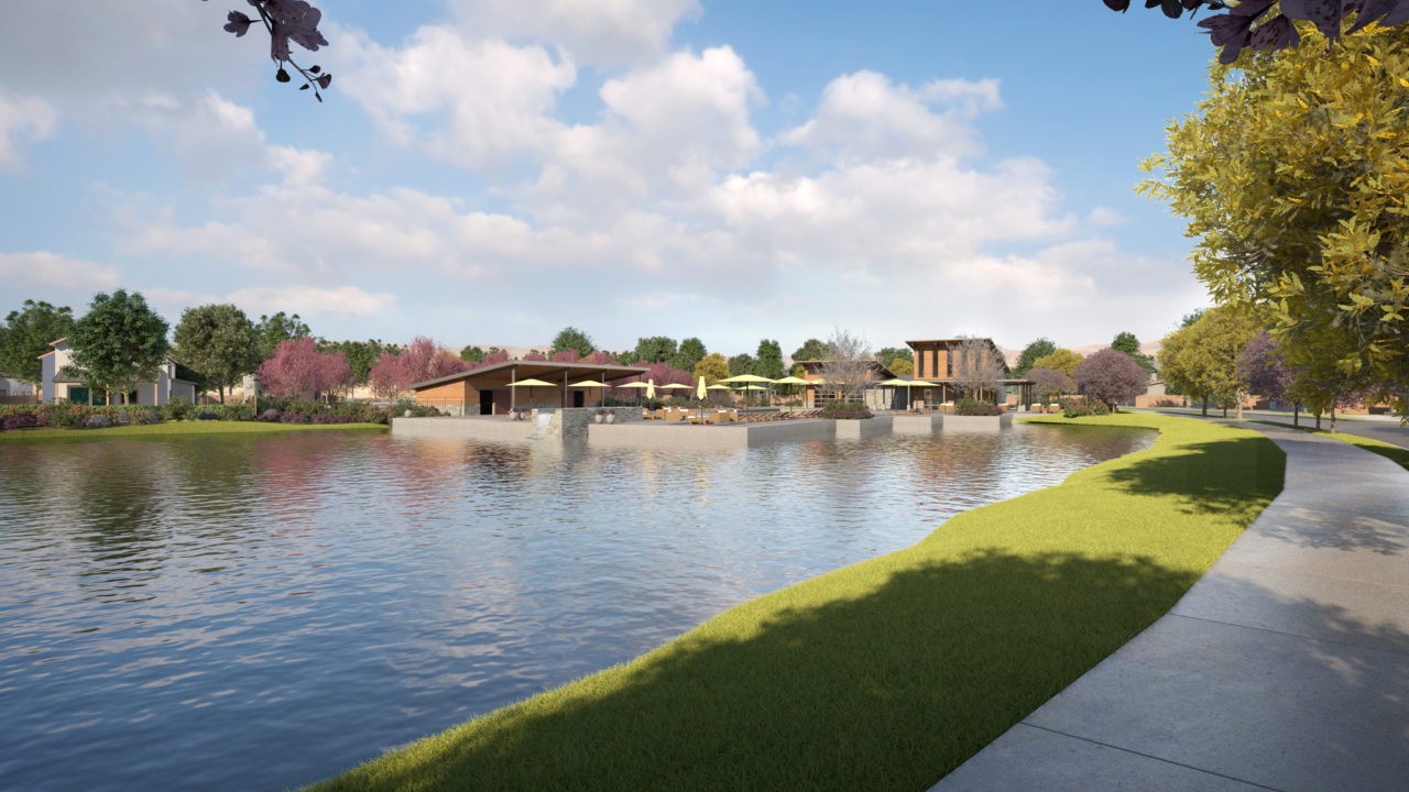 Riverstone Rendering by Lake